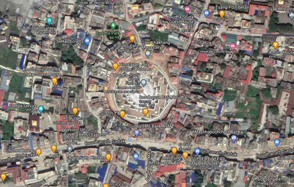 boudhanath-google-maps