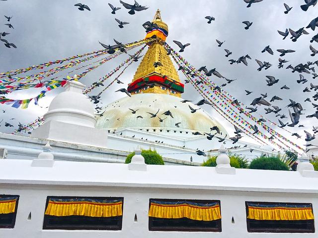 Visita de la estupa de Boudhanath en Katmandú